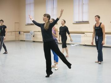 With the Mariinsky ballet in St Petersburg, November 2013