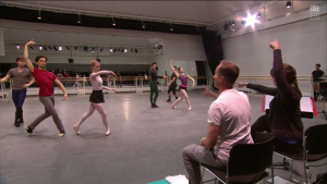 Rehearsal of Aeternum on World ballet day