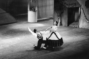 Violetta Elvin as The Miller's Wife and Léonide Massine as The Miller in The Three Cornered Hat 1947   photo by Roger Wood/ROH 1947
