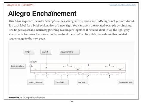 allegro enchainement examples