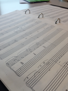 Extract of Jane Bourne's score of the 'Birth of the Royal Ballet' Photo by Anna Trevien
